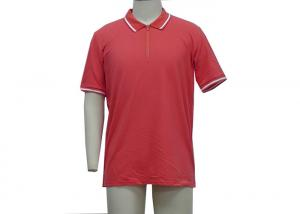 China Nice Red Mens Polo T Shirts Placket With Adhesive Tape Customized  Size on sale