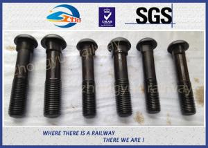 Grade 8 8 Bridge / Railway Bolt Fish Bolts For Fasten Rail Joints