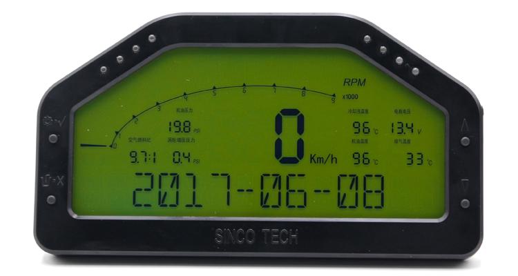 DO908 Waterproof Auto Gauges , Digital Racing Gauges ODO / TRIP