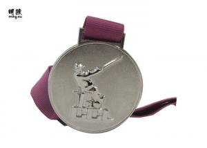 China Golf Event Custom Gold Medallions Silver Plating , Round Custom Medals And Awards on sale