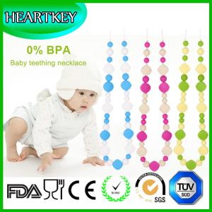 China Great Baby Teething Toy-Silicone Necklace with Baby-safe Silicone Jewelry - Food Grade Sil on sale