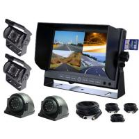 """Analog 4CH TFT Car Monitor 7 """" With 4 Cameras And Extension Cables"""