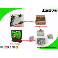 Cordless Lamps for Mining , Rechargeable LED Miner Headlight With USB Charging Flame Retardant Material