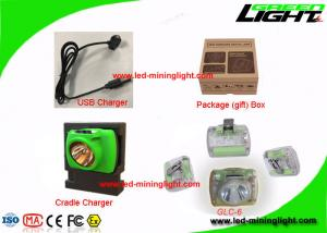 China Rechargeable Cordless Mining Cap Lights USB Charging Flame Retardant Material on sale