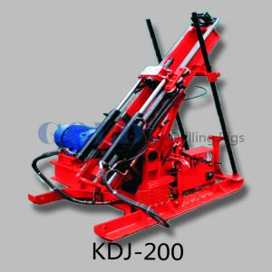 China KDJ-200 small underground drilling rig working in tunnel on sale