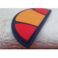 China Multiple Color Semicircle Rubber Logo Patches For Bag Decoration on sale
