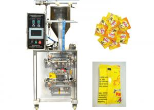 China Piston Pump Tomato Sauce Packaging Machine , Pillow Seal Automatic Packing Machine on sale