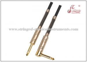 China Guitar Link Cable With Black PVC Spiral Shield Nickel Connector ISO9001 / CQM / TUV on sale
