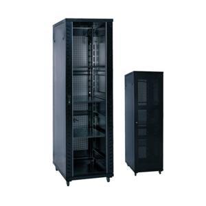 China 12U - 47U Floor Network Cabinet With Glass Door / Mesh Front Door on sale