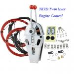Whaleflo YK9D Boat Marine Twin Lever Engine Throttle Control 080CC(33C)Control Cable