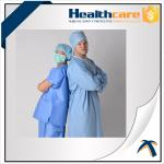 Disposable Polypropylene Lab Coat For Household / Hospital Blue Or White Color