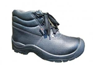 China Black Men Buffalo Leather Safety Toe Work Shoes With Steel Toe on sale