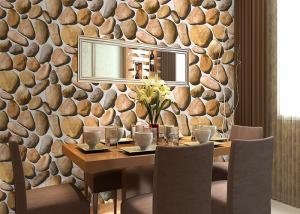 China Cobblestone Printing Natural 3D Home Living Home Decor Wallpapers CE / ISO / SGS / CSA Test on sale