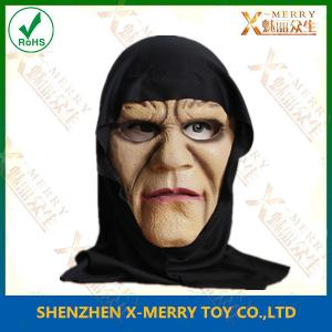 China X-MERRY Scary Adult Black Witch Foam Latex Mask Cosplay Halloween Masks on sale