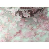 """Tulle Tape Embroidery Mesh Lace Fabric 3d Flower 49-50"""" Width For Wedding"""