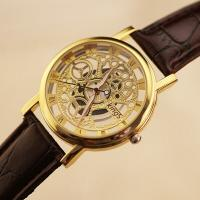 2015 most popular and awesome cheap quartz skeleton watches men for promotion