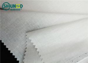 China Formal Shirt Interlining Woven Fusible 110gsm Lining Soft Hand Feeling on sale