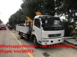 Factory sale good price dongfeng brand  156hp diesel Euro 5 4tons folded crane boom mounted on truck, folded truck crane