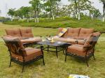 Sofá exterior para qualquer tempo ajustado da mobília do sofá do alumicast BML13122