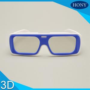 China IMAX Reusable Linear Polarized 3D Glasses White / Blue Frame For Adult on sale