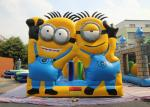 Minions Little Yellow Man Despicable Inflatable Bouncer Combo With Dual Slide SGS CE UL