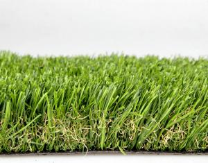 China Olive Green Polyethylene Commercial Artificial Grass For Landscaping / Park 40mm Dtex12000 on sale