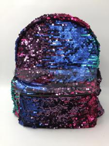 China Women Polyester Laptop Bag Dazzling Sequin Backpack With Sequin Material on sale
