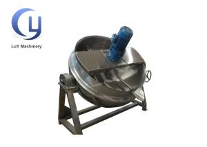 China Tiltable Automated Mixing Industrial Steam Jacketed Kettle 500 Liter Steam on sale
