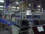 Planta de fabricación del aparato electrodoméstico HD TV sistema de prueba, línea del transportador de la televisión
