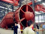 Small Tubular Turbine With Adjustable Runner Blades , Hole Bulb Low Head Hydro Turbine