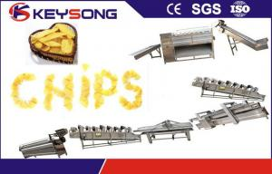 China Stainless Steel Potato Chips Processing Machine , Custom Potato Chips Production Line on sale