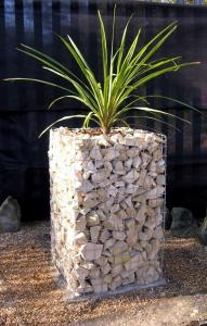 China Gabion Planters, Wire Welded Gabion Flower Columns/Benches,Stone Cages on sale