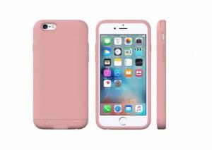 China Plastic Truly Capacity Cell Phone Charger Case / Pink Iphone 6s Battery Case on sale