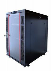 China Cold Rolled Steel Enclosed Server Rack , Strong Casters Vertical Network Rack on sale