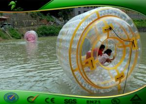 China 2.7 Meters Long Durable Water Zorb Ball Inflatable Water Roller Waterproof on sale