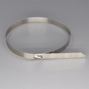 China Non - Flammable PVC Coated Stainless Steel Cable Ties / Metal Zip Ties on sale