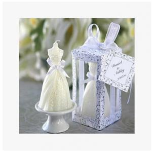 China New creative promotion gift product wedding gift party festival wedding dress candle on sale