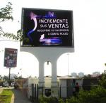 Thin Advertising LED Signs , Front Service RGB LED Display Video Wall