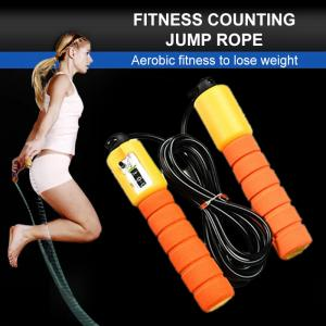China Fashion Adjustable Jump Rope , Professional Jump Rope 2.9m Length With Electronic Counter on sale