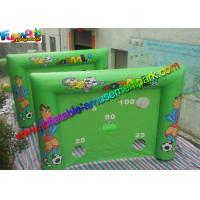 Inflatable Football Goal , Shoot Goal Inflatable Soccer Arena With 4m x 3m