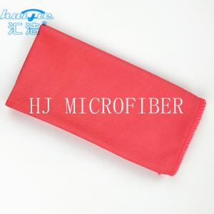 China Red Microfiber Glass Cleaning Cloth Towel 40*40 Lint Free For Window Washing Cloth on sale