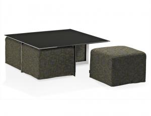 Quality Modern Rectangle Glass Coffee Table , Stainless Steel Glass End Table , coffee for sale