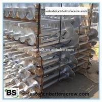 Ground Steel square lead Helical Screw Pile/piers/anchors