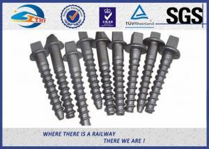 China Custom Railroad Screw Spikes Q235 Concrete Sleepers Grade 5.6 on sale