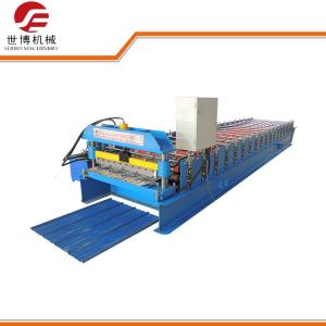 China Corrugated Sheet Roll Forming Machine , 350 H Steel Glazed Tile Roll Forming Machine on sale