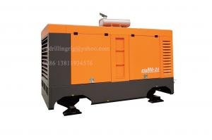 China Diesel Engine High Pressure Portable Screw Air Compressor for Water Well Drilling on sale