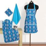 Flower Pattern Adjustable Home Kitchen Cooking Apron with Pockets for Women and Men