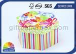 A annoncé imprimer la boîte-cadeau de papier dure avec le couvercle, boîtes faites sur commande d'emballage d'hexagone de luxe