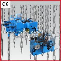 Chain bending and welding machine for making lashing chain