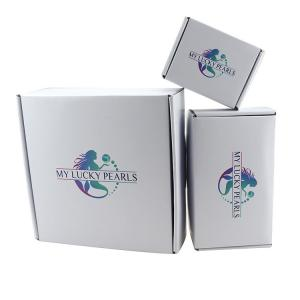 China Customized Corrugated Cardboard Cartons White Mailer Shipping Boxes on sale